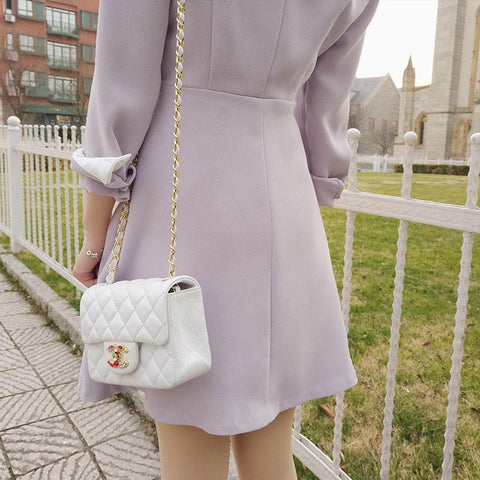 Purple Elegant Dress SP179054