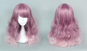 Final Stock! Purple Mixed Pink Lolita Long Curly Hair Wig SP166371