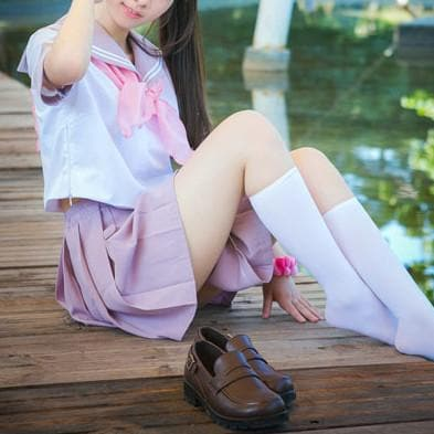 Purple Sailor Style Shirt/Skirt/Set SP166982