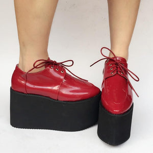Red/Black Custom Made Cool PU Platform Shoes SP168274