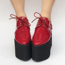 Load image into Gallery viewer, Red/Black Custom Made Cool PU Platform Shoes SP168274
