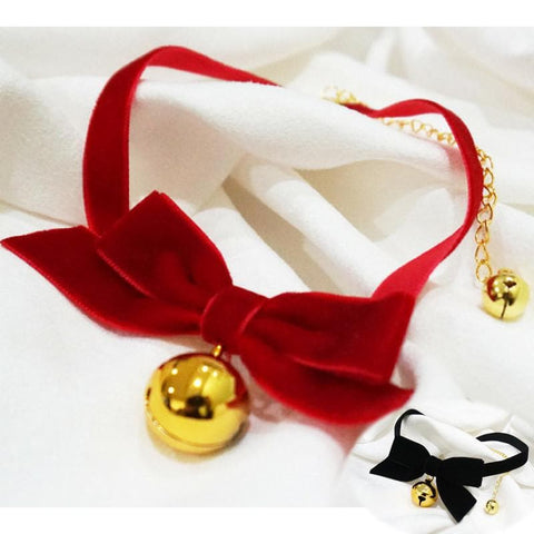 Red/Black Lolita Maid Bell Choker SP166321
