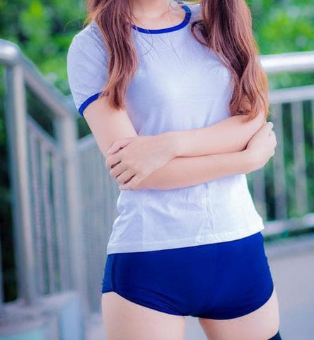 Red/Navy Japanese Girl Gym Suit Cosplay Costume SP166979