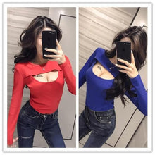 Load image into Gallery viewer, Red/Blue Open Chest Slim Shirt SP1811860