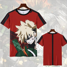 Load image into Gallery viewer, Red/Green My Hero Academia Character T-Shirt HSP1812410