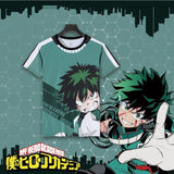 Red/Green My Hero Academia Character T-Shirt HSP1812410