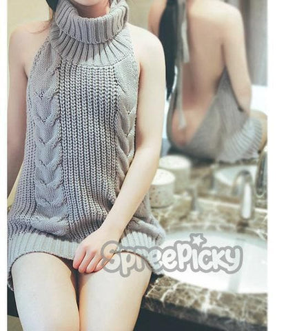 [S-XL] Virgin Killer Sweater Top SP179198