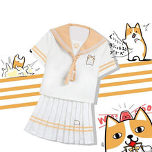 Load image into Gallery viewer, Corgi Sailor Uniform Shirt/Skirt SP1710012