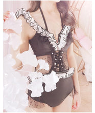 Load image into Gallery viewer, [Reservation]Elegant Falbala Pearl One-Piece Swimsuit SP1812055