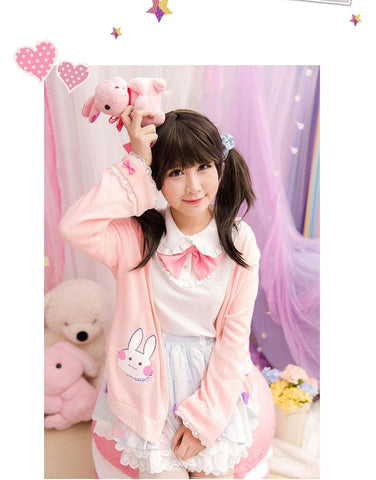 Kawaii Bunny Blouse/Skirt/Sweater SP153543 - SpreePicky  - 10