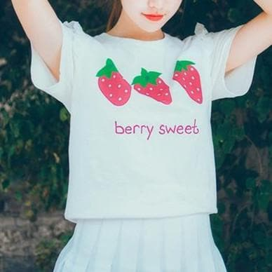 [Reservation] Kawaii Strawberry/Ice Cream Printing T-Shirt SP166188