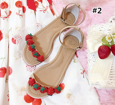 [Reservation] Kawaii Strawberry Summer Sandals SP1710013
