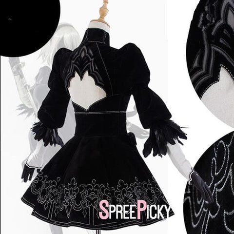 {Reservation}NieR:Automata 2B Cosplay Costume SP179600