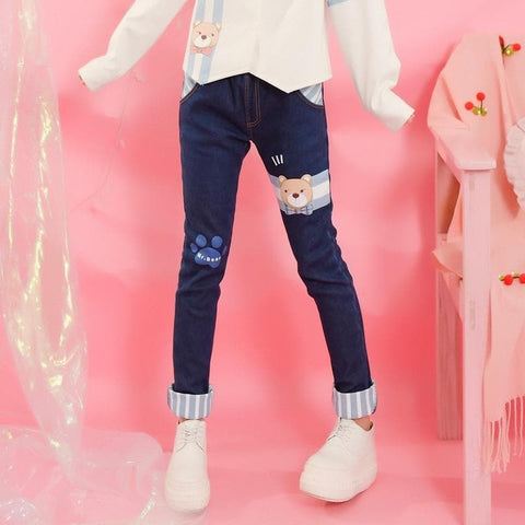 S/M/L Blue High Waist Bodycon Jeans Pants SP168557