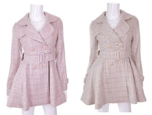 [Reservation] S/M/L Pink/Grey Retro England Style Cape Coat SP153644 - SpreePicky  - 5