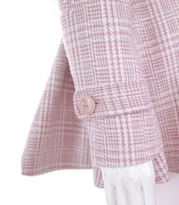 [Reservation] S/M/L Pink/Grey Retro England Style Cape Coat SP153644 - SpreePicky  - 9