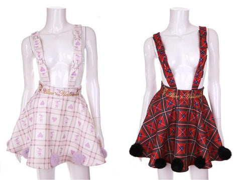 [Reservation] S/M Red/White [Alice In Wonderland] Suspender Skirt SP154412 - SpreePicky  - 6