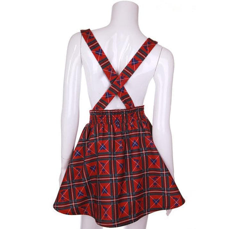 [Reservation] S/M Red/White [Alice In Wonderland] Suspender Skirt SP154412 - SpreePicky  - 7