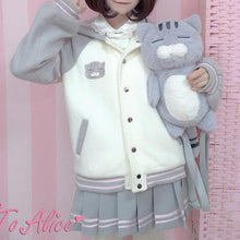 Load image into Gallery viewer, [Reservation] Sleepy Cat Cosy Bomber Jacket Coat SP1711320