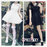 [Reservation] White/Black Sweet Tulle Dress SP179540
