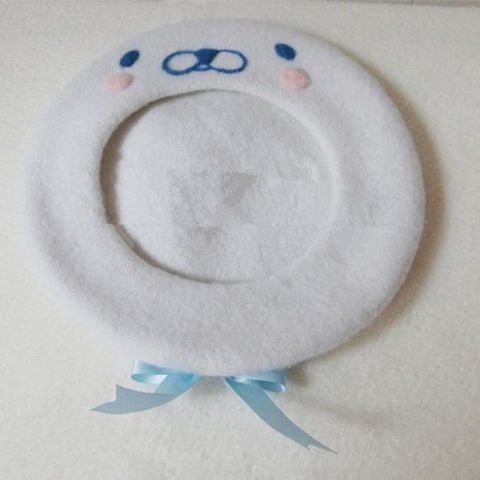 [Reservation] White Cutie Seal Beret Hat SP153426 - SpreePicky  - 4