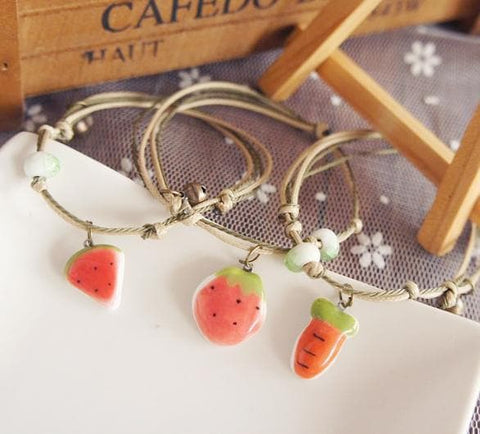 Retro Chinese Ceramic Bell Bracelet SP179711