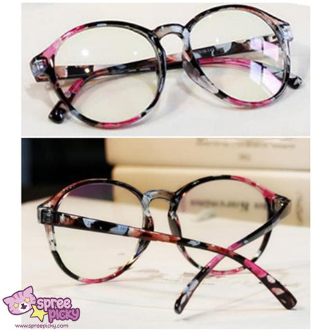 Retro Elegant Floral Patterns Supple Big Glasses SP151668