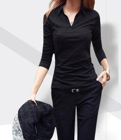 S-2XL 4 Colors Loose Long Sleeve Shirt SP168207