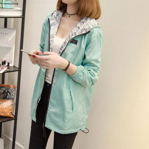 S-2XL 4 Colors Oversized Wind Protection Hoodie Coat SP168429