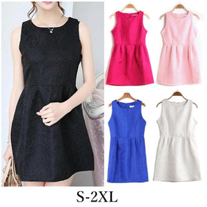S-2XL 5 Colors Sleeveless Dress SP152271 - SpreePicky  - 1
