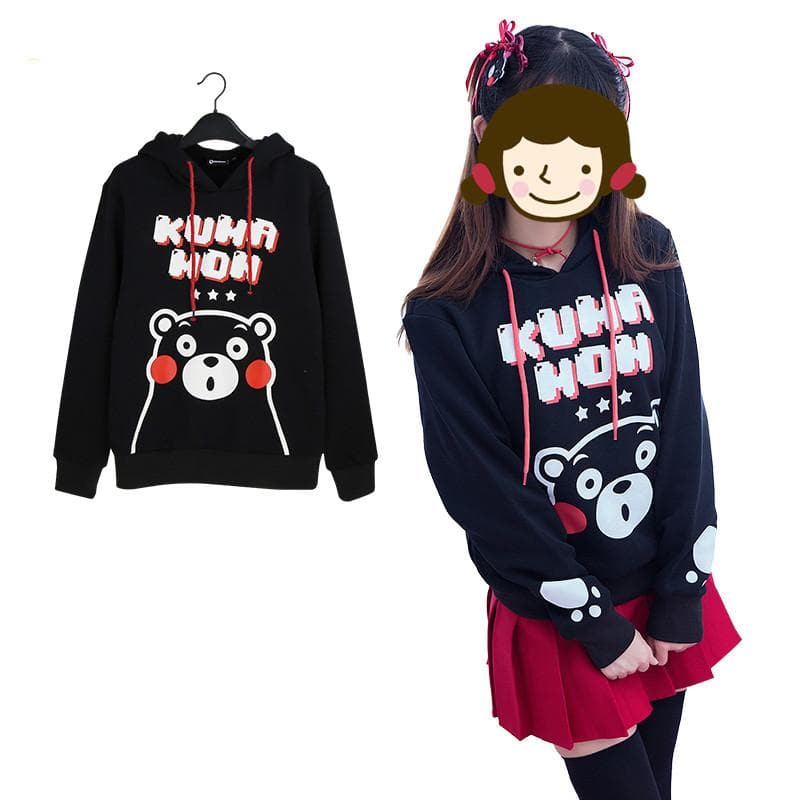 S-2XL Kawaii Kumamon Printing Hoodie Jumper SP168365