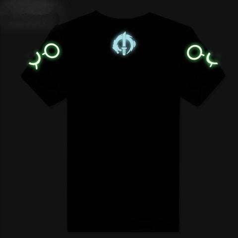 S-3XL Black/Blue Overwatch Luminous T-Shirt SP167835
