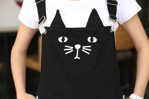 S-3XL Black Cutie Neko Kitty Cat Suspender Dress SP153320 - SpreePicky  - 6