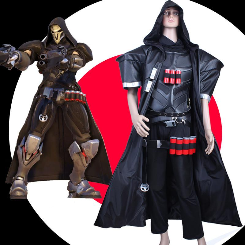 S-3XL Custom Made Overwatch Reaper Cosplay Costume SP167922
