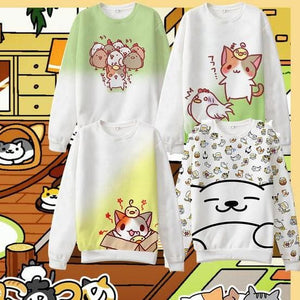 S-3XL [Neko Atsume]Adorable Cotton Jumper SP167234