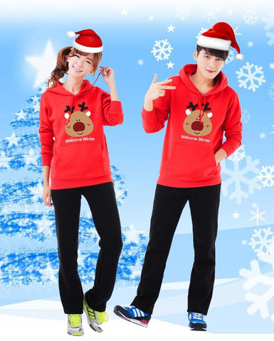 S-3XL Welcome Winter Couple Hoodie Jumper SP154098 - SpreePicky  - 5