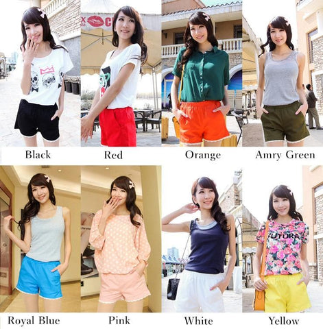 S-4XL 15 Colors Pastel Lace Summer Short SP152313 Page 2 - SpreePicky  - 2