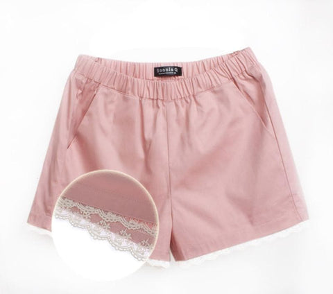 S-4XL 15 Colors Pastel Lace Summer Short SP152313 Page 1 - SpreePicky  - 5