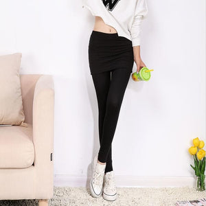 [S-4XL] 3 Colors Bottoming Skirt-Leggings SP153322 - SpreePicky  - 6