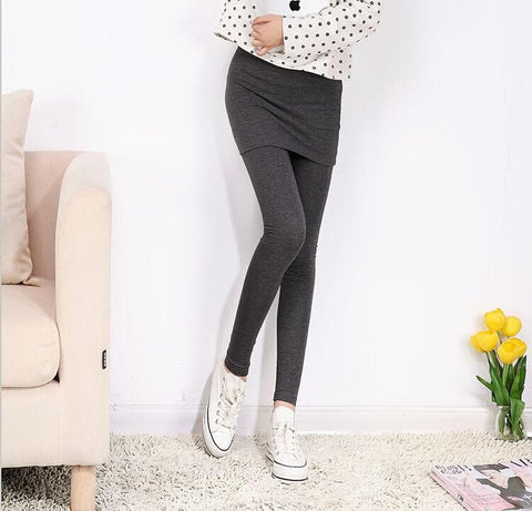 [S-4XL] 3 Colors Bottoming Skirt-Leggings SP153322 - SpreePicky  - 7