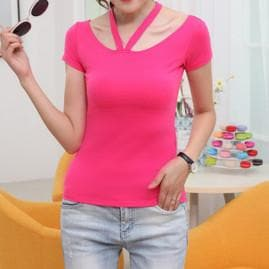 S-4XL 4 Colors Sexy Halterneck T-Shirt SP165623