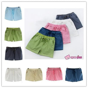 [S-4XL] 7 Colors Mori Girl Cotton & Linen Shorts SP151791 - SpreePicky  - 1