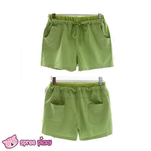 [S-4XL] 7 Colors Mori Girl Cotton & Linen Shorts SP151791 - SpreePicky  - 5