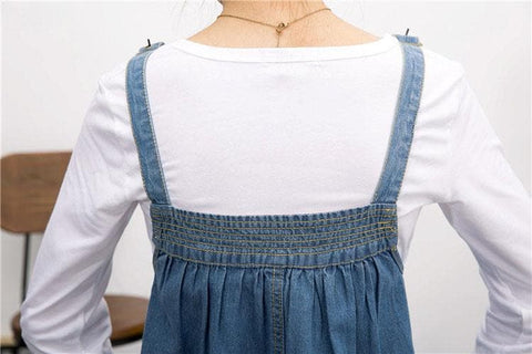 S-4XL Blue Denim Sweet Girl Suspender Dress SP153321 - SpreePicky  - 9