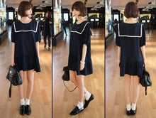 Load image into Gallery viewer, S-7XL Black/Navy colors Simple Sailor Girl Dress SP152474 - SpreePicky  - 2