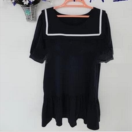 S-7XL Black/Navy colors Simple Sailor Girl Dress SP152474 - SpreePicky  - 4