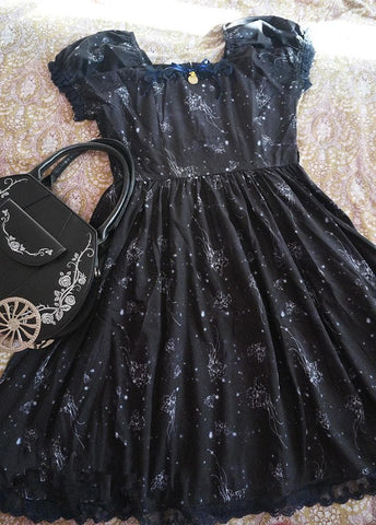 S-L Black Lolita Dress SP164984 - SpreePicky  - 3