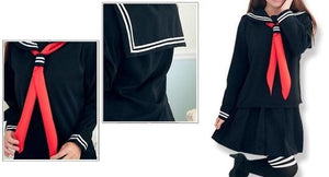 S-XL 3 colors Sailor Seifuku School Uniform Set SP153570 - SpreePicky  - 3