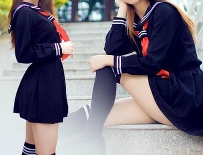 S-XL 3 colors Sailor Seifuku School Uniform Set SP153570 - SpreePicky  - 4