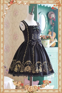 S-XL 4 Colors Lolita Embroidery Velvet Woolen dress SP168526